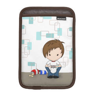 Cute Video Game Playing Emo Boy Cartoon Sleeve For iPad Mini