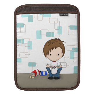 Cute Video Game Playing Emo Boy Cartoon Sleeve For iPads