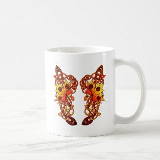 cute vine butterfly wing of love coffee mug