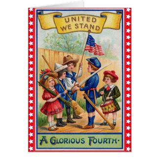 Cute Vintage 4th of July Card