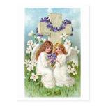 Cute Vintage Angels Postcard