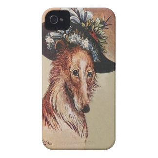Cute Vintage Anthropomorphic Collie Dog - Wain iPhone 4 Case-Mate Case