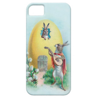 Cute Vintage Anthropomorphic Rabbits iPhone5 Case