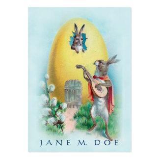 Cute Vintage Art - Rabbit Serenade, Dating Service Business Cards