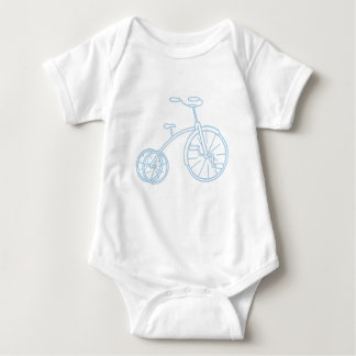 Cute Vintage Baby Blue Tricycle T Shirt