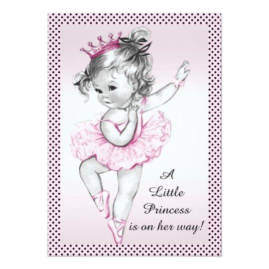 Cute vintage ballerina princess baby shower invitation zazzle cute vintage ballerina princess baby shower invitation filmwisefo