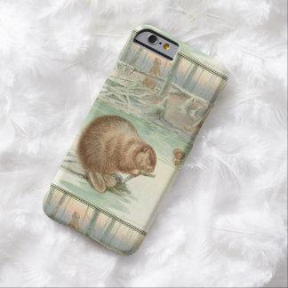 Cute Vintage Beaver & Friends iPhone 6 Case