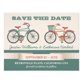 Cute Vintage Bicycles Retro Style Save the Date Announcements