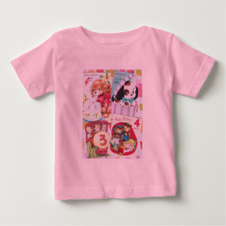 Cute Vintage Birthday Card Collage Baby T-Shirt