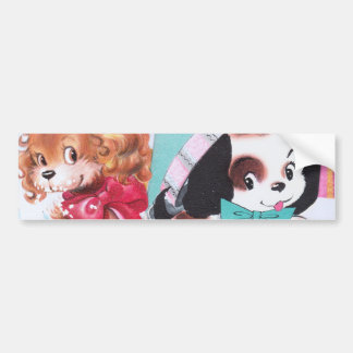 Cute Vintage Birthday Card Collage Bumper Stickers