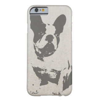 Cute Vintage Black and White French Bulldog Barely There iPhone 6 Case