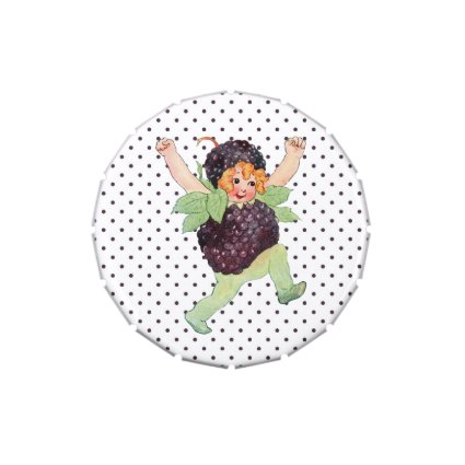 Cute Vintage Blackberry Girl Candy Tins