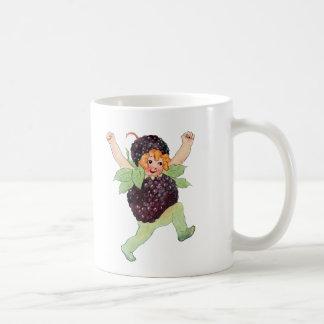 Cute Vintage Blackberry Girl Coffee Mug