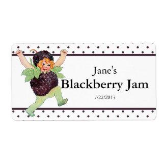 Cute Vintage Blackberry Jam Label