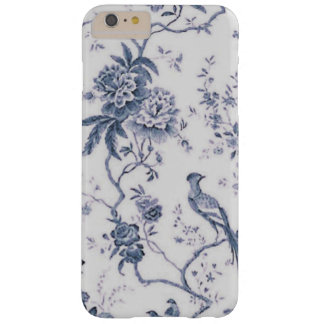 Cute Vintage Blue And White Bird Floral Barely There iPhone 6 Plus Case