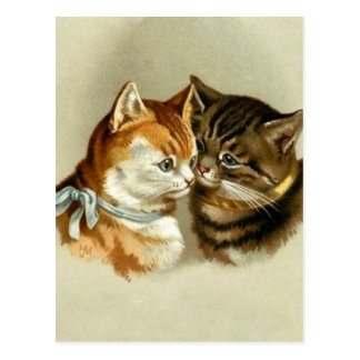 Cute Vintage Cats Postcard