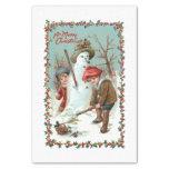 Cute Vintage Children and Snowman Tissue Paper