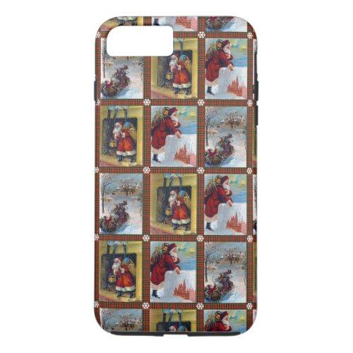 Cute Vintage Christmas Art Pattern iPhone 8 Plus7 Plus Case