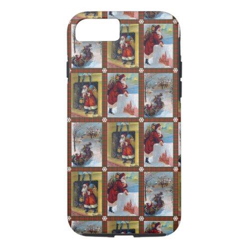 Cute Vintage Christmas Art Pattern iPhone 87 Case
