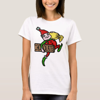 Cute Vintage Christmas Elf with Candy T-Shirt