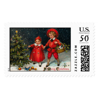 Cute Vintage Christmas Stamps