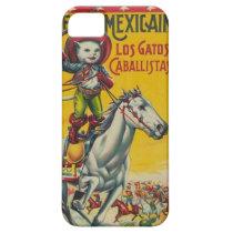 Cute Vintage Cowboy Cat Mexican Gatos Caballistas iPhone SE/5/5s Case