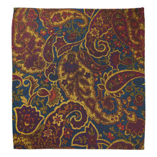 Cute vintage dark brown paisley design bandana