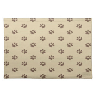Cute vintage dog paws girly placemat