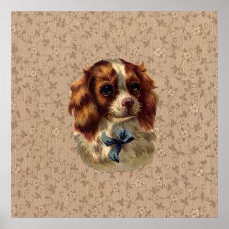 Cute Vintage Dog Print