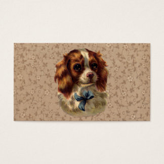 Cute Vintage Dog Print Business Card