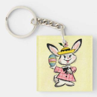 Cute Vintage Easter Bunny Keychain