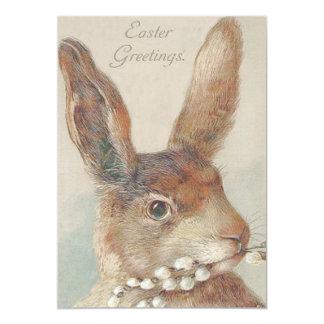 Cute Vintage Easter Bunny Rabbit Card