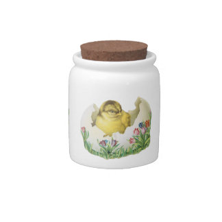 Cute Vintage Easter Chic Candy Jar