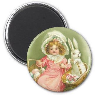 Cute Vintage Easter Rabbit Magnet