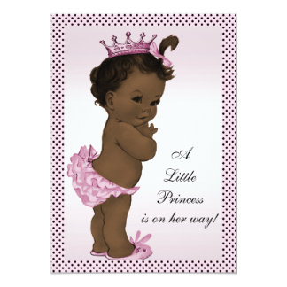 Cute Vintage Ethnic Princess Baby Shower Card
