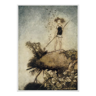 Cute Vintage Faerie Poster