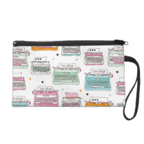 Cute vintage fashion typewriter clutch