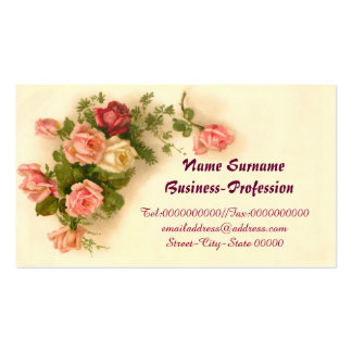CUTE VINTAGE FLORAL BUSINESS CARD