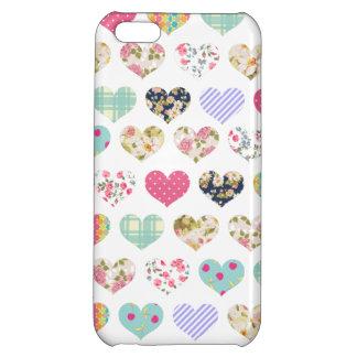 Cute Vintage Floral Hearts Quilt Pattern iPhone 5C Case