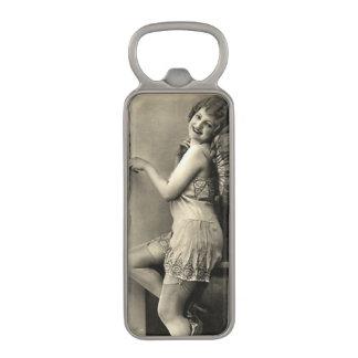 Cute Vintage Girl Magnetic Bottle Opener