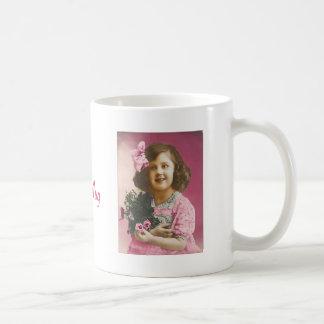 Cute Vintage Girl - Personalized Coffee Mug