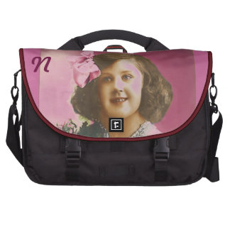 Cute Vintage Girl - Personalized Laptop Bags