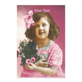 Cute Vintage Girl - Personalized Stationery
