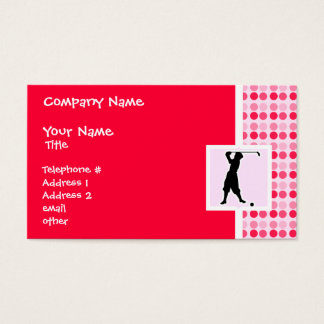 Cute Vintage Golfer Business Card