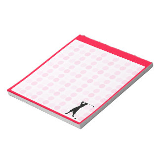 Cute Vintage Golfer Notepad
