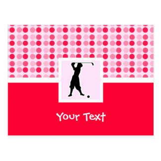Cute Vintage Golfer Postcard