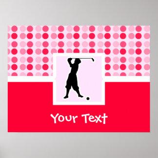 Cute Vintage Golfer Posters