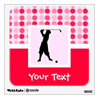 Cute Vintage Golfer Wall Skin