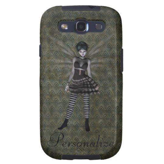 Cute Vintage Gothic Fairy Personalized Galaxy S3 Cover
