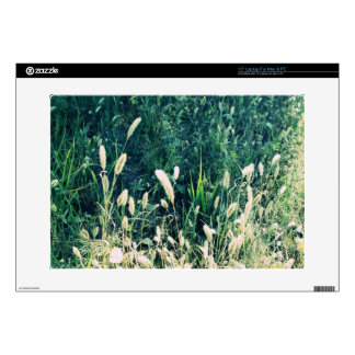 Cute vintage green and yellow grass photo decal for laptop